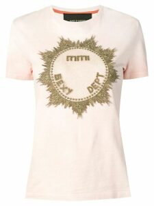 Mr & Mrs Italy metallic embroidered T-shirt - PINK