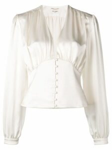 Saint Laurent draped blouse - White