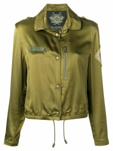 Mr & Mrs Italy metallic embroidered jacket - Green