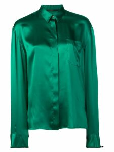 Haider Ackermann classic concealed button shirt - Green