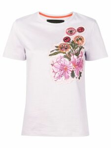 Mr & Mrs Italy embroidered patch T-shirt - PURPLE