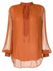 Manning Cartell v-neck blouse - Brown