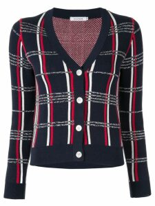Guild Prime grid pattern cardigan - Blue