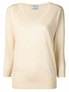 Prada V-neck jumper - Neutrals