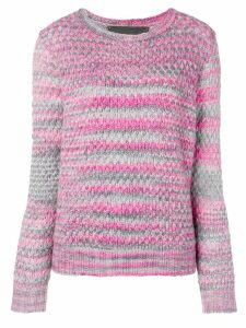 The Elder Statesman textured knit sweater - PINK