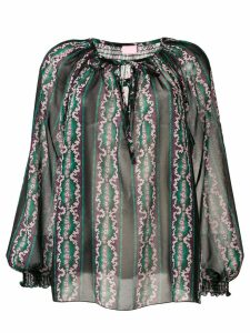 Giamba printed peasant blouse - Black