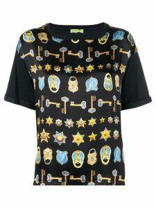 Versace Jeans Couture key & padlock print T-shirt - Black