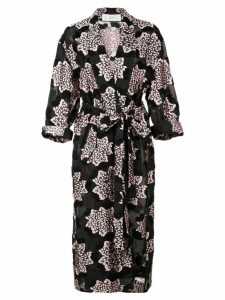 Julien David printed kimono coat - Black