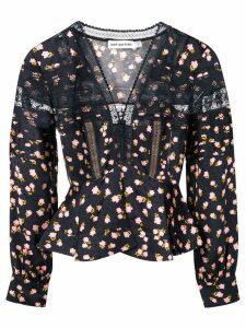 Self-Portrait floral print blouse - Black