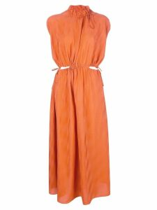Fendi cut-out detail dress - Orange