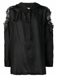 Gold Hawk blouse with lace details - Black