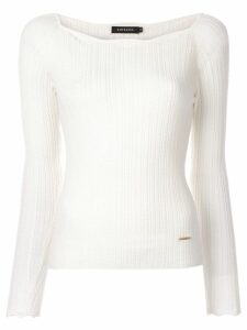 Loveless ribbed jumper - White