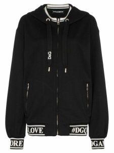 Dolce & Gabbana logo print cotton hoodie - Black