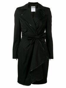 Moschino bow wrap dress - Black