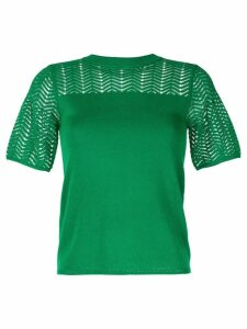 Guild Prime geometric pattern knitted top - Green