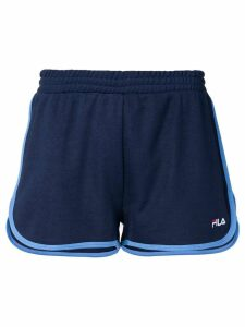 Fila logo embroidered track shorts - Blue