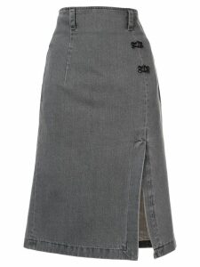 Olivier Theyskens denim pencil skirt - Grey