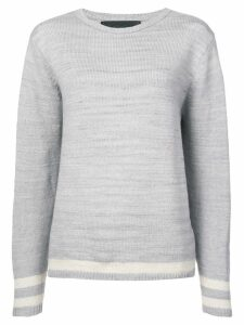 The Elder Statesman cashmere stripe detail sweater - Grey