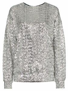 Isabel Marant Olivia sequin embellished top - Metallic