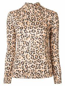 Rokh leopard-print jumper - NEUTRALS