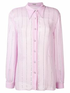 Miu Miu pointed collar embellished shirt - PURPLE
