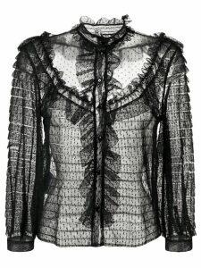 Miu Miu Plumetis blouse - Black