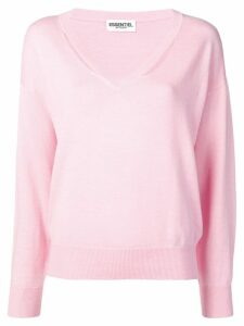 Essentiel Antwerp cut out details jumper - PINK
