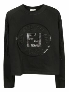 Fendi Fringed Logo Sweatshirt