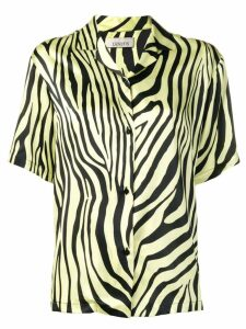 Laneus zebra print shirt - Yellow