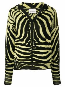 Laneus zebra print hooded jumper - Yellow