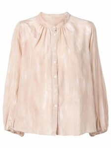 Raquel Allegra shirred bell blouse - Neutrals