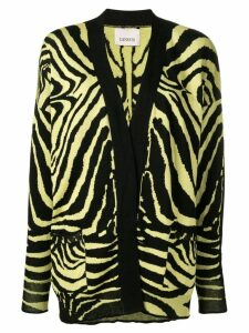 Laneus zebra pattern cardigan - Yellow