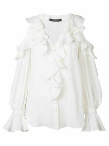 Alexander McQueen frill detail blouse - White