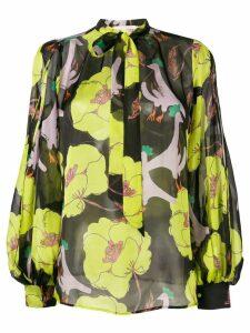 L'Autre Chose floral print blouse - Black