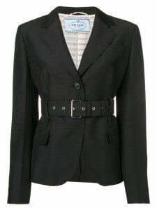 Prada cropped belted jacket - Black