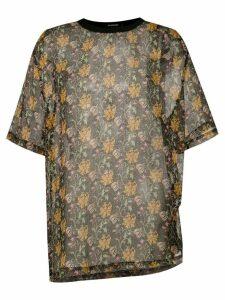 À La Garçonne oversized chiffon t-shirt - Multicolour