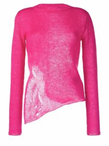 Saint Laurent half-distressed jumper - Pink