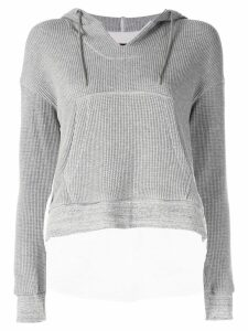 Frei Ea cropped elongated back hoodie - Grey
