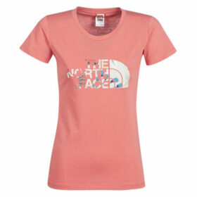 The North Face  WOMEN'S S/S EASY TEE  women's T shirt in Pink
