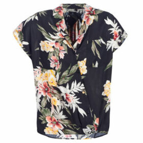 Volcom  RAG'N FLOWER SS  women's Shirt in Black