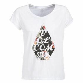 Volcom  RADICAL DAZE TEE  women's T shirt in White