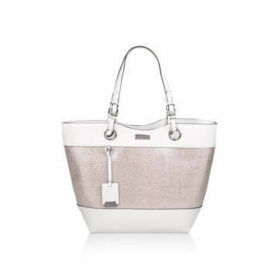 Carvela Lucinda Weaved Shopper - Metallic Silver Shopper