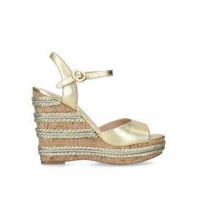 Kurt Geiger London Ally 2 - Gold High Heel Wedge Sandals