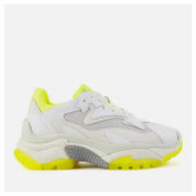 Ash Women's Addict Chunky Runner Style Trainers - White/Fluo Yellow - UK 7