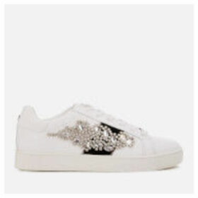 Carvela Women's Lustre3 Leather Low Top Trainers - White