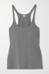 Marques' Almeida - Belted Floral-print Cotton-poplin Blouse - Black