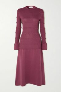 FRAME - Striped Ribbed-knit Top - Navy