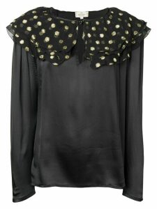 Valentino Pre-Owned 1990's ruffled detail satin blouse - Black