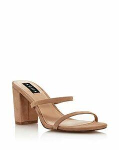 Aqua Women's Adele Open-Toe Block High-Heel Sandals - 100% Exclusive