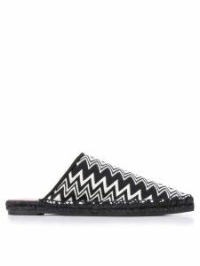 Castañer X Missoni Items zig-zag patterned mules - Black